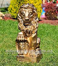 Садовая фигура Львы со щитами, фото 3
