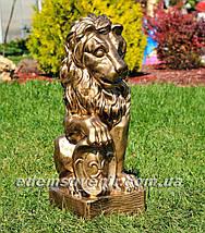 Садовая фигура Львы со щитами, фото 2