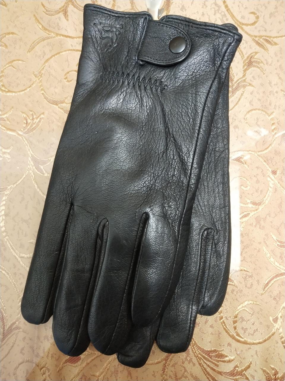 Кожа ОЛЕНЬ натуральная с шерсти сетка мужские перчатки/Перчатки мужские кожаные только оптом