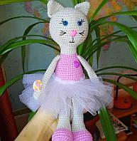 Кошечка-балерина игрушка ручная работа