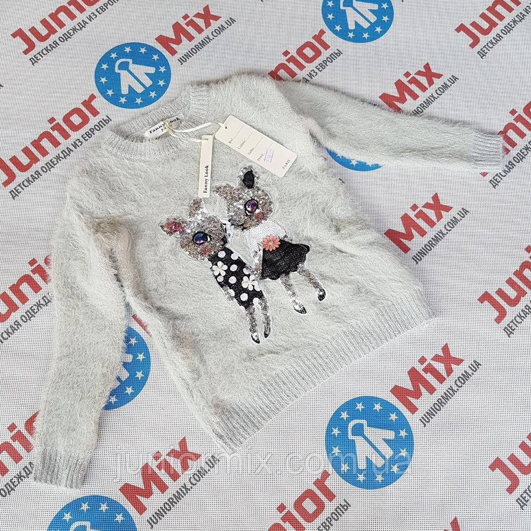 Теплые детские ангоровые кофты для девочек оптом Fanny Look ИТАЛИЯ