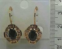 Серьги из ювелирной бижутерии с камнями .135