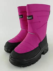 Сапоги зимние для девочек Термосапоги Swen Фиолетовый Demar Польша