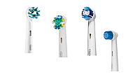 Насадки для зубной щетки ORAL-B 4 шт. (Sensitive, Precision Clean,  Floss Action, Cross Action)