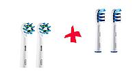 Насадки для зубной щетки ORAL-B 4 шт. (2 шт. Trizone,  2шт. Cross Action)