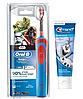 Детская  зубная щетка Oral-B D12. 513 Stages Power (СтарВарс) + зубная паста Crest