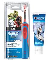 Детская  зубная щетка Oral-B D12. 513 Stages Power (СтарВарс) + зубная паста Crest, фото 1