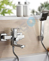 Смеситель для ванны с душем Zegor LEB3 (LEB3-A123) однорычажный с коротким изливом цвет хром
