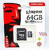 Карта памяти Kingston microSDXC 64GB class 10 Canvas Select U1 + Adapter (SDCS/64GB)