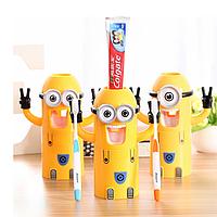 Дозатор для зубной пасты с держателем зубных щеток Миньон, фото 1