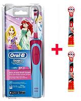 Детская электрическая зубная щетка Oral-B D12. 513 (для девочки) 3 насадки в комплекте, фото 1