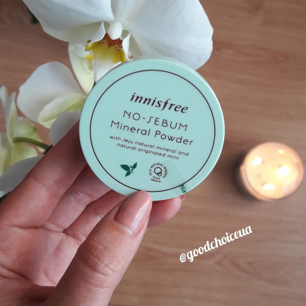 Рассыпчатая матирующая пудра Innisfree No Sebum Mineral Powder Mint
