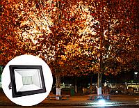 Прожектор светодиодный с микроволновым скрытым датчиком движения 30Вт, LMPS16-30, 6500K чёрный, фото 1