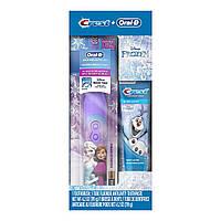 Зубная щетка Disney's Frozen Oral-B + зубная паста Crest, подарочный набор