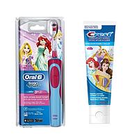Детская  зубная щетка Oral-B D12. 513 Stages Power (Принцесса) + зубная паста Crest
