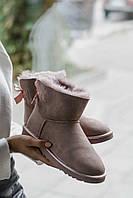 Женские зимние угги Ugg Mini Bailey Bow Dusk Реплика ААА класса, фото 1