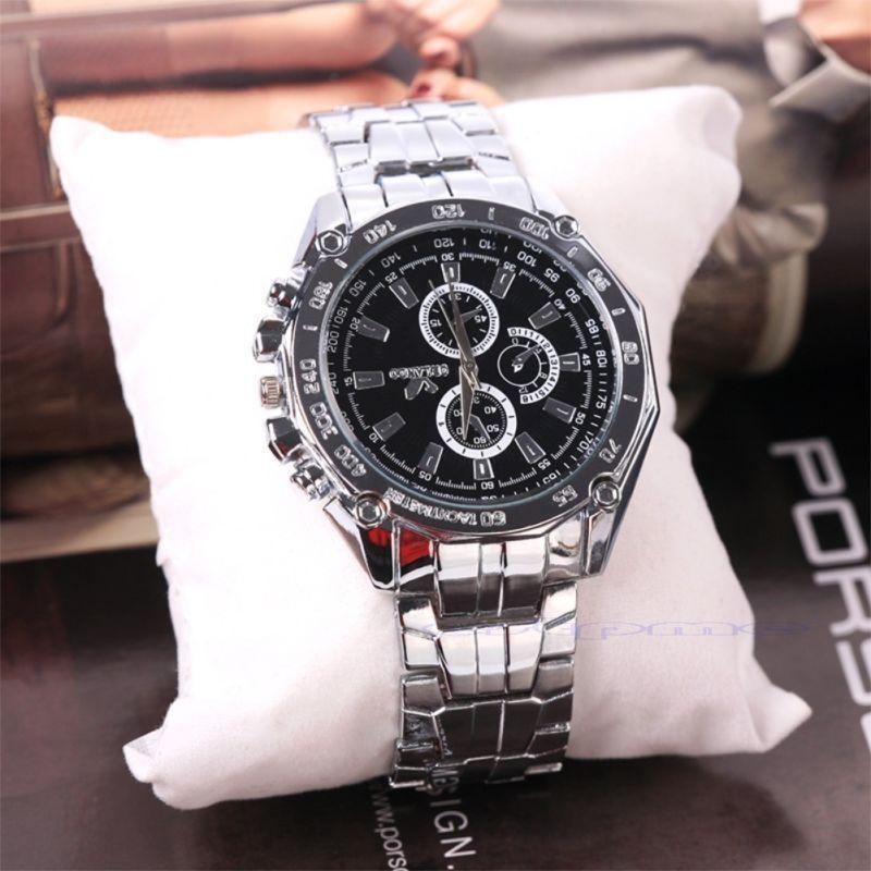 Мужские спортивные наручные часы «Orlando Black» с металическим браслетом