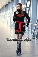 Теплое вязаное платье в украинском стиле. 2 цвета!, фото 1