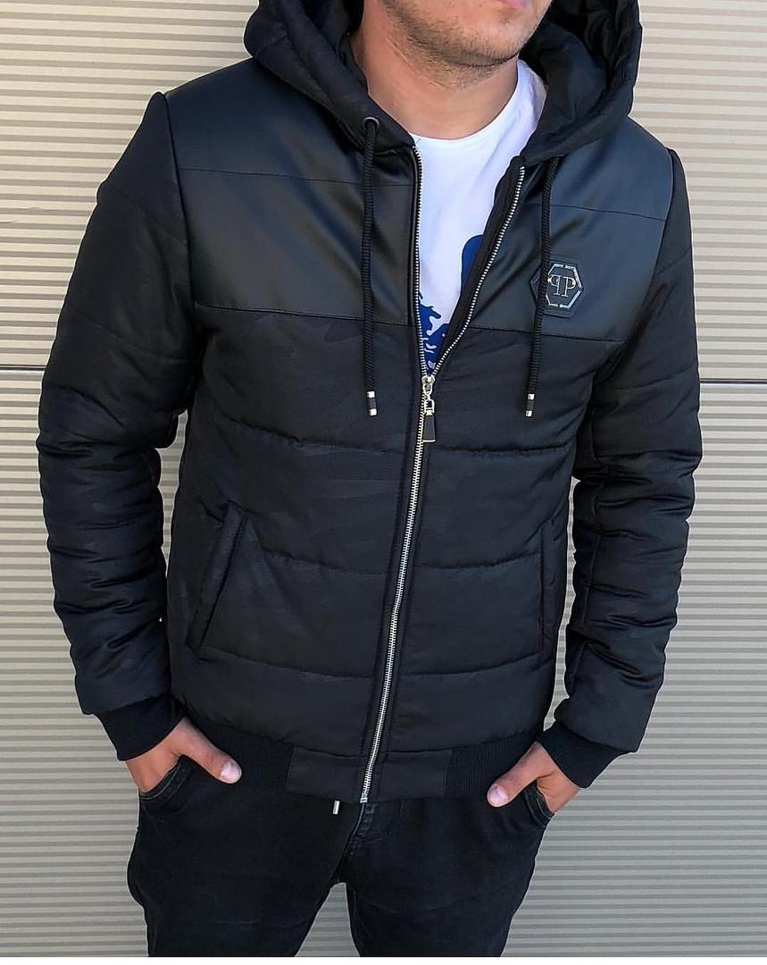 17cf23bb2b78 Мужская Зимняя Черная Куртка Philipp Plein Очень Качественная Куртки  Мужские Фирменные - Shopmann - Магазин Одежды
