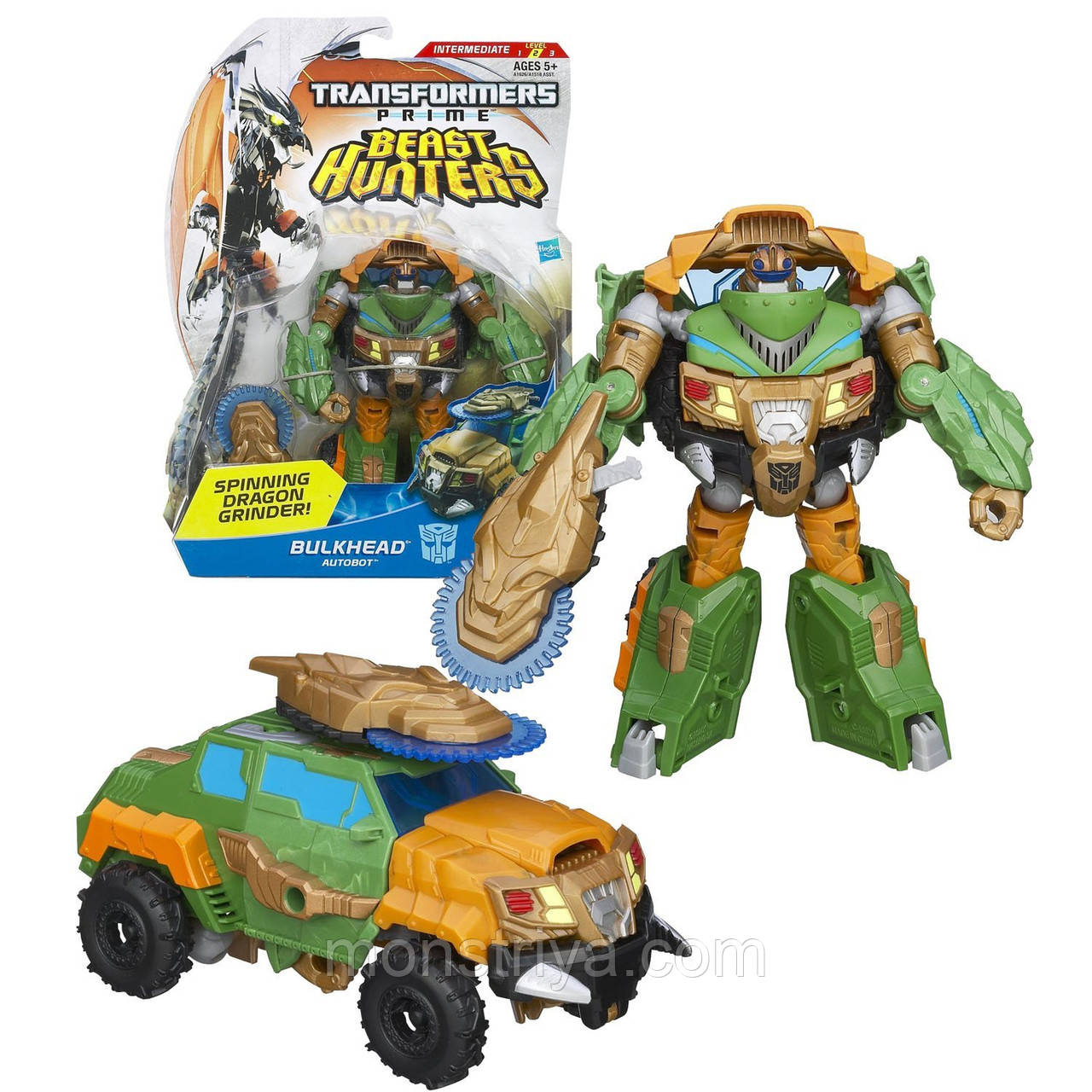Transformers Робот Трансформер PRIME Beast Hunters Deluxe BULKHEAD