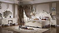 Спальня в стиле бароко ,белая с золотом , Савона