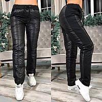 Тёплый штаны из плащёвки на синтепоне. Чёрные 5bb3a36a05b00
