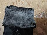 Кожа натуральная с махра мужские перчатки только оптом, фото 4