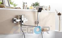 Смеситель для ванны с душем Zegor LEB7 (LEB7-A123) однорычажный с длинным гусаком цвет хром