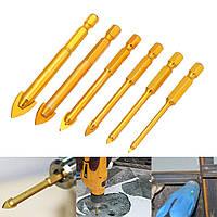 6шт 4-12мм головка головки копья 1/4 дюймов Hex Shank Керамический Стекло для плитки Дрель Бит Set - 1TopShop