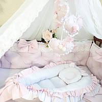 Комплект для новорожденных розово-белых оттенков