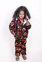 Комбинезон детский зимний Зимний костюм на девочку Комбинезон зимний для девочки  Новинка Модель 2019 года