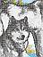 """Авторская канва для вышивки бисером 399х270мм """"Волки"""", фото 2"""