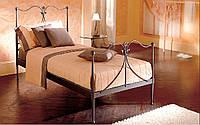 Кованая кровать Rosa,односпальная. КИ1073