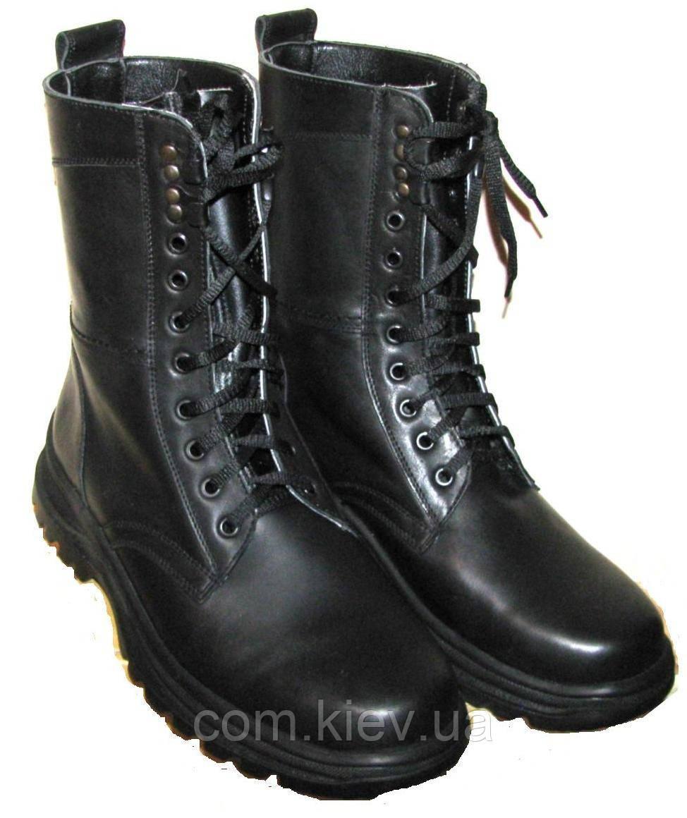 Ботинки-берцы кожаные на легкой подошве