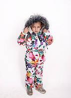 Комбинезон детский зимний Детский зимний костюм Костюм для девочки Комбинезон зимний на девочку Новинка 2019 86-92