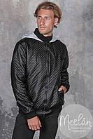 """Чёрная куртка """"philipp plein"""" на флисе."""