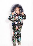 Комбинезон детский зимний Детский зимний костюм Комбинезон для девочки Костюм для девочки Модель зима 2019