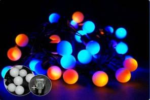 Гирлянда шарики диаметр 18мм string 6,5 м  40 LED, BY - сине-желтый К-117