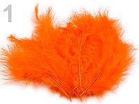 Страусовые перья длина 10-15 см. для декора. №1, оранжевый.
