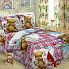 Комплект постельного белья полуторный для девочек