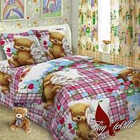 Комплект постельного белья полуторный для девочек , фото 1