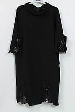 Платье женское с блеском Darkwin Турция 50 - 60рр черный