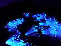 Светодиодная гирлянда 102 led кисточка синяя.