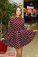 """Платье женское """"сердечки"""" Бордовый"""