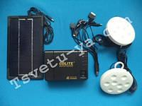 Портативный аккумулятор для туризма GDLITE GD-8006, солнечная батарея, 2 светодиодные лампы, Power Bank, USB