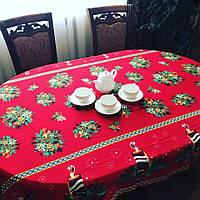 Скатерть новогодняя со свечками, фото 1