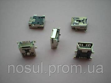 Mini USB разъем коннектор 5 pin F180 мама female