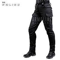 """Женские полицейские брюки """"POLICE"""" BLACK, фото 1"""