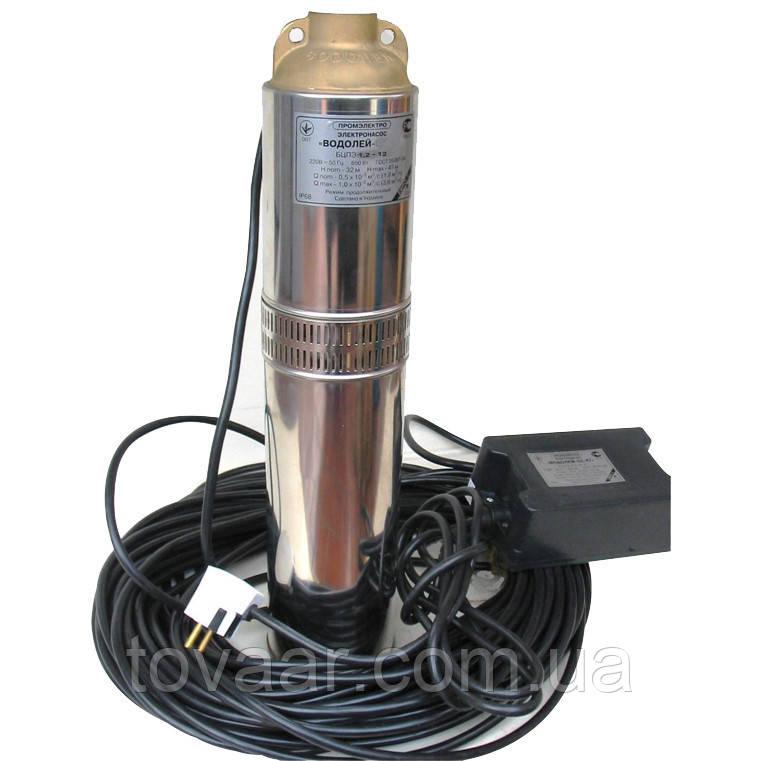 Погружной насос Водолей БЦПЭ 1.2-25У, 120 мм