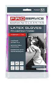 Перчатки PRO service латексные хозяйственные Professional M 1 пара розовые